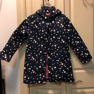 GAP girls rain coat with removable hood.